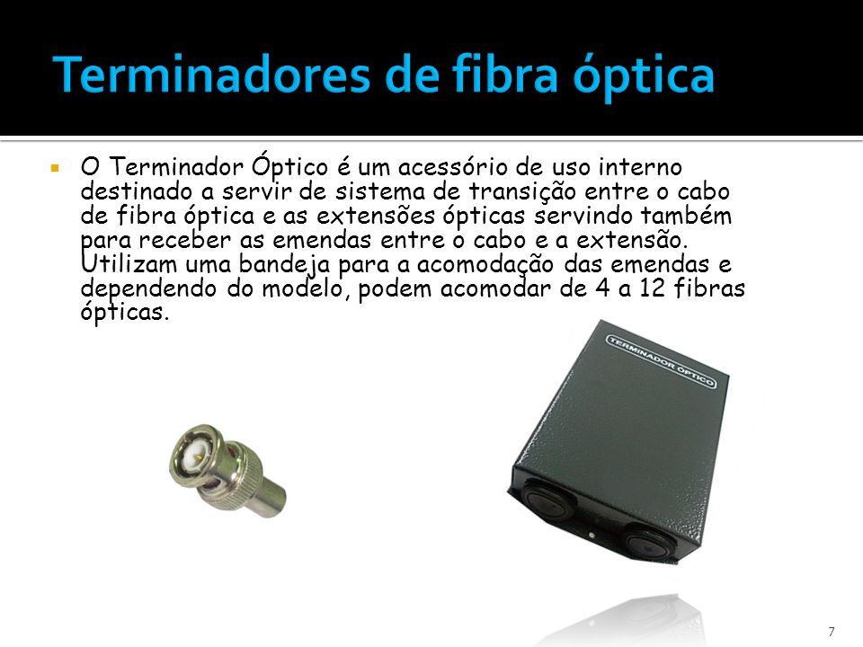 Terminadores de fibra óptica