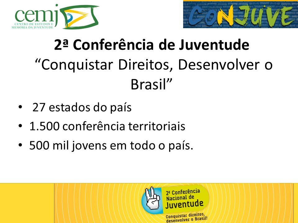 2ª Conferência de Juventude Conquistar Direitos, Desenvolver o Brasil