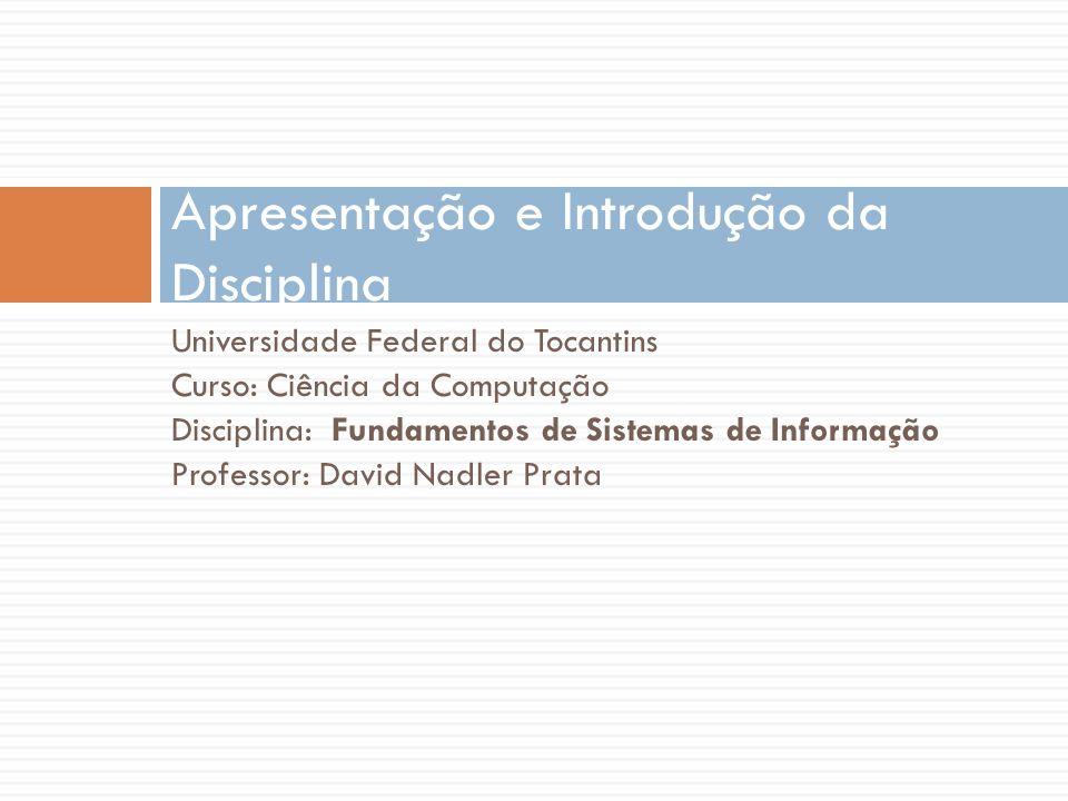 Apresentação e Introdução da Disciplina