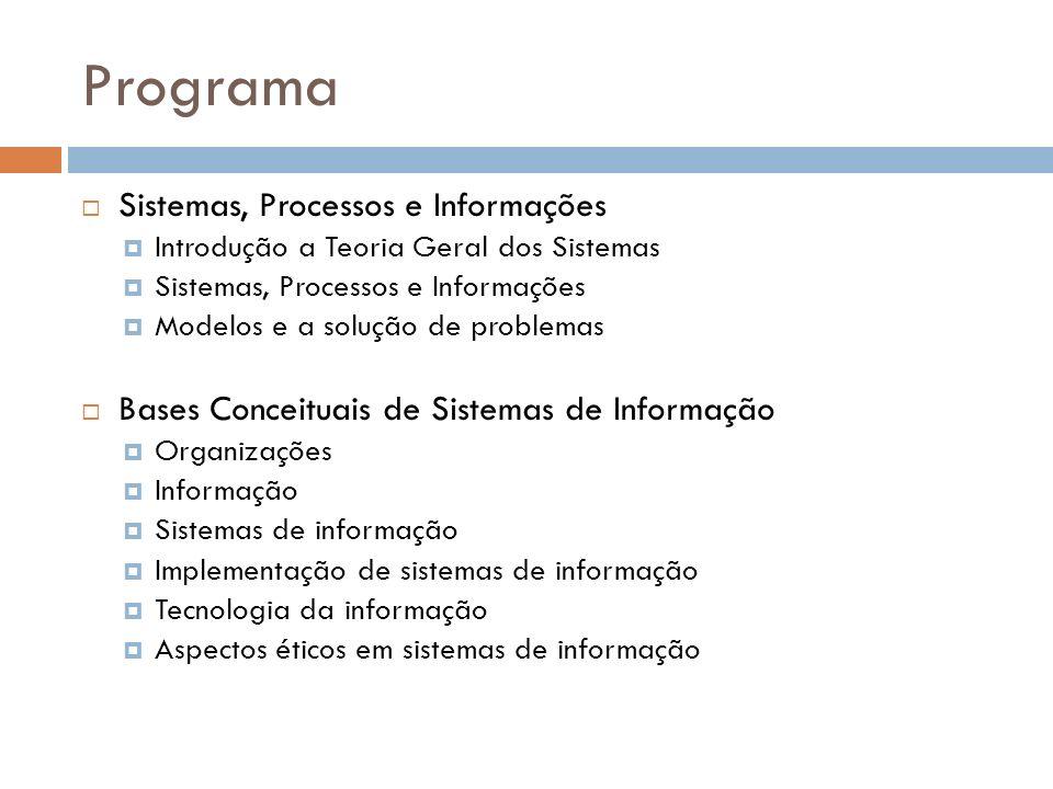 Programa Sistemas, Processos e Informações