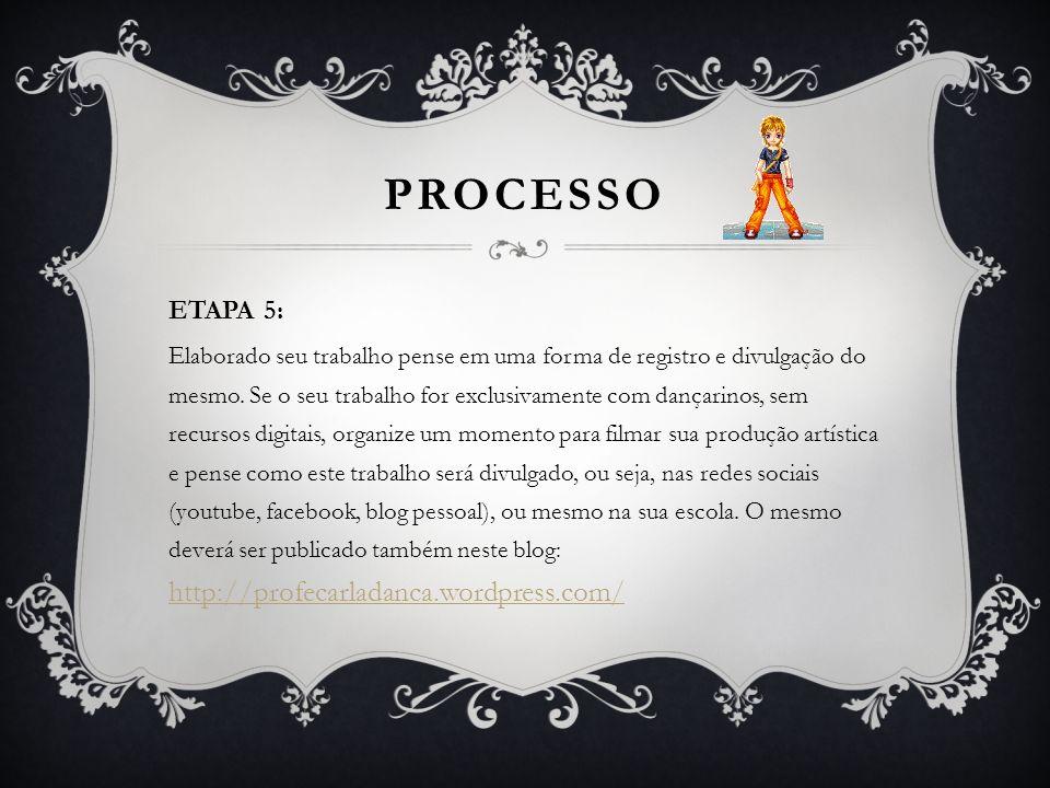 PROCESSO ETAPA 5: