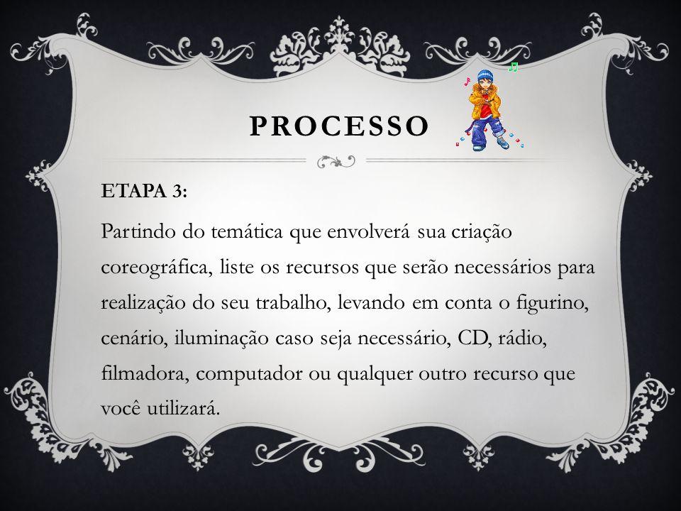 PROCESSO ETAPA 3: