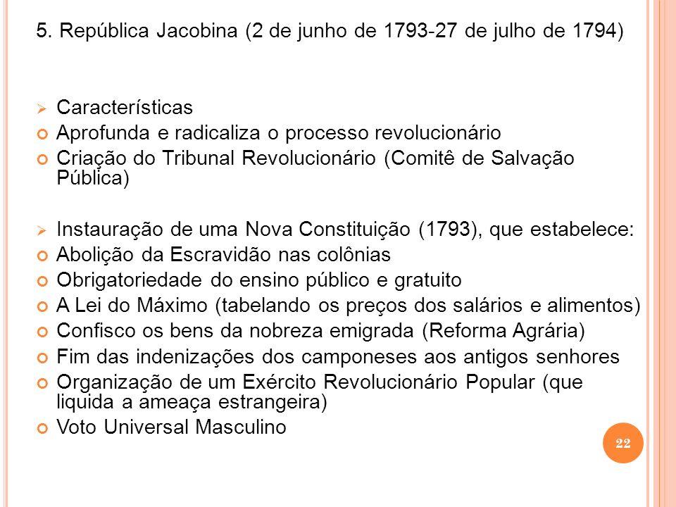 5. República Jacobina (2 de junho de 1793-27 de julho de 1794)