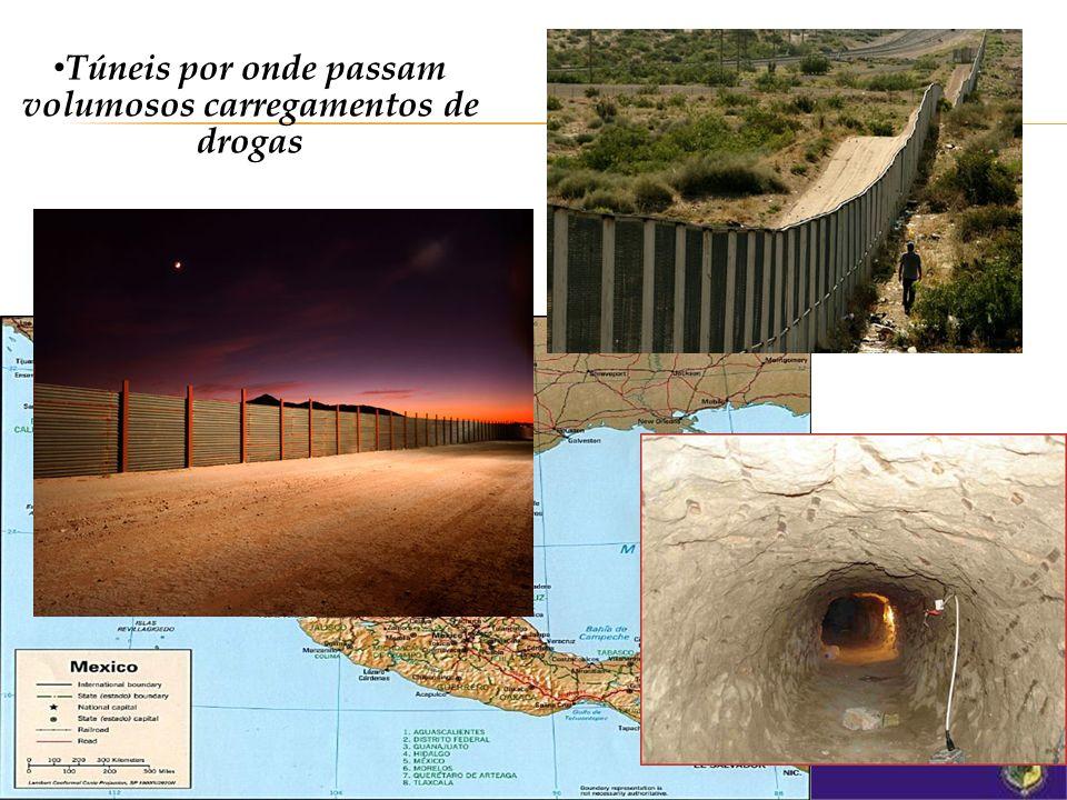 Túneis por onde passam volumosos carregamentos de drogas