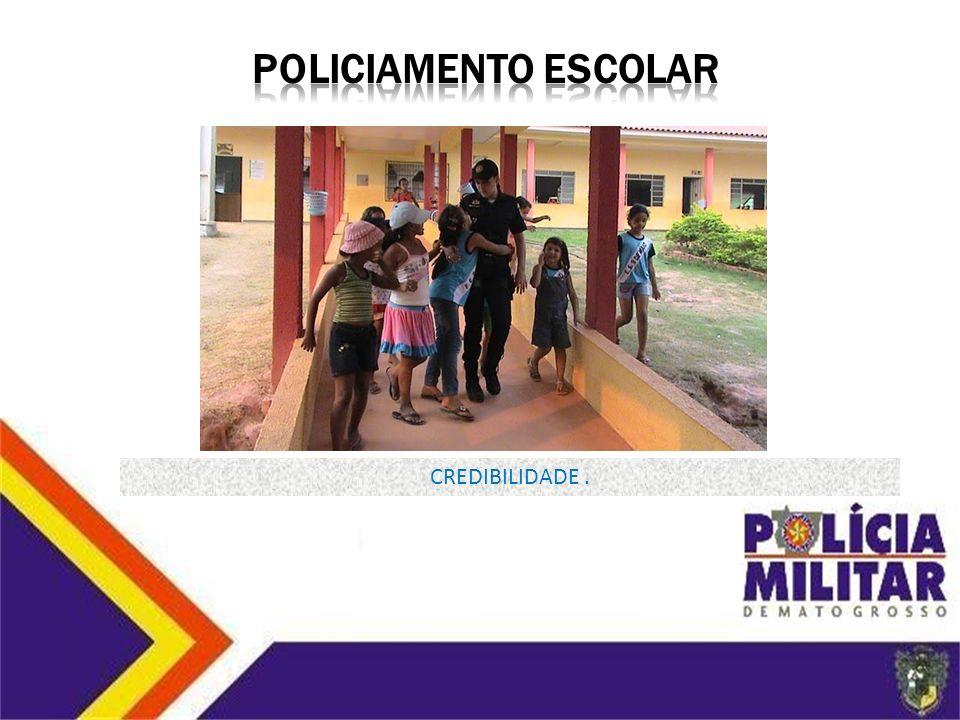POLICIAMENTO ESCOLAR CREDIBILIDADE .