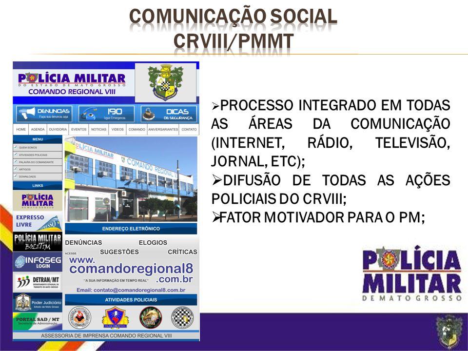 COMUNICAÇÃO SOCIAL CRVIII/PMMT