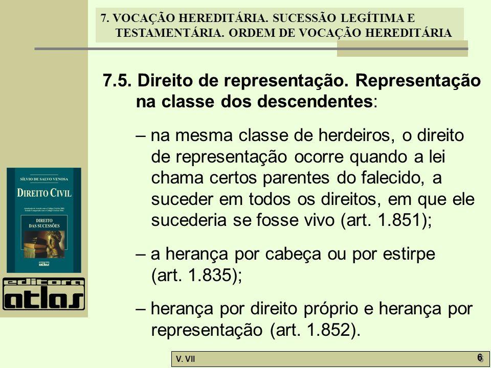 7. 5. Direito de representação