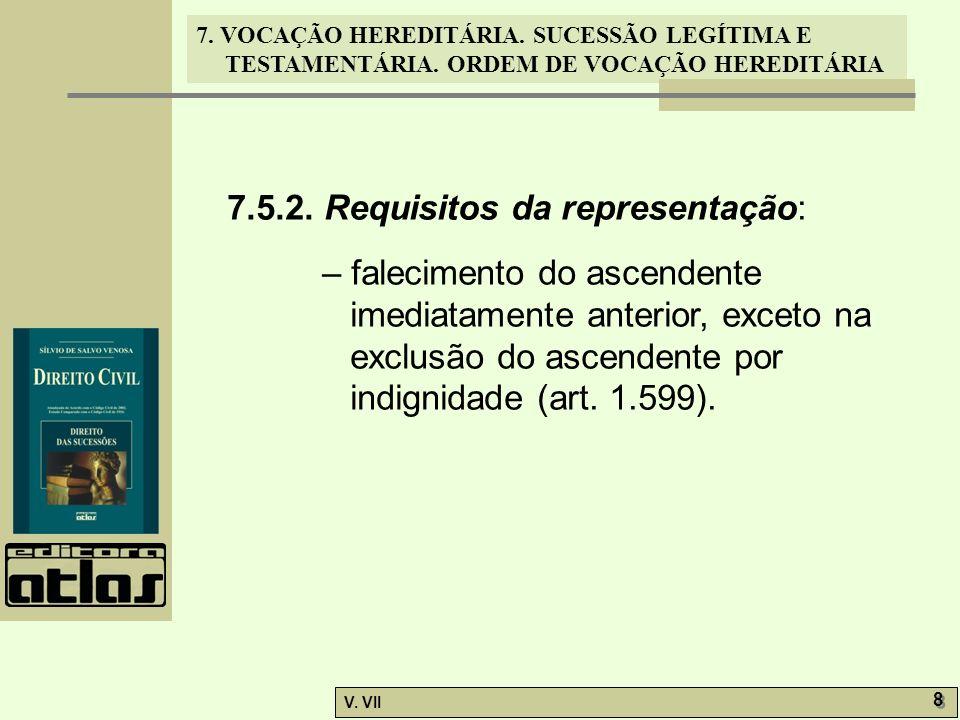 7.5.2. Requisitos da representação: