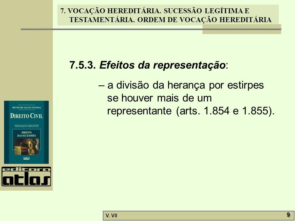 7.5.3. Efeitos da representação: