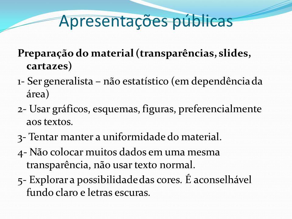 Apresentações públicas