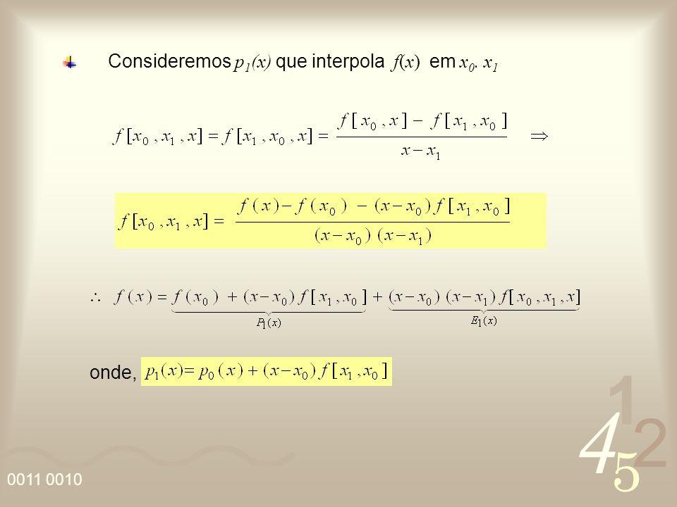 Consideremos p1(x) que interpola f(x) em x0. x1
