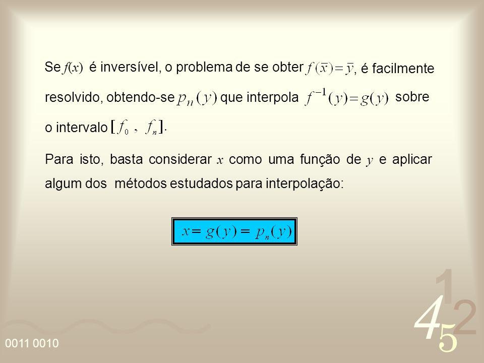 Se f(x) é inversível, o problema de se obter