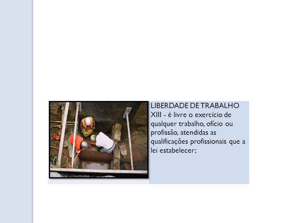 LIBERDADE DE TRABALHO