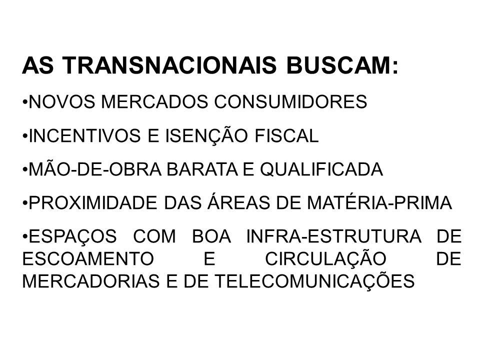 AS TRANSNACIONAIS BUSCAM: