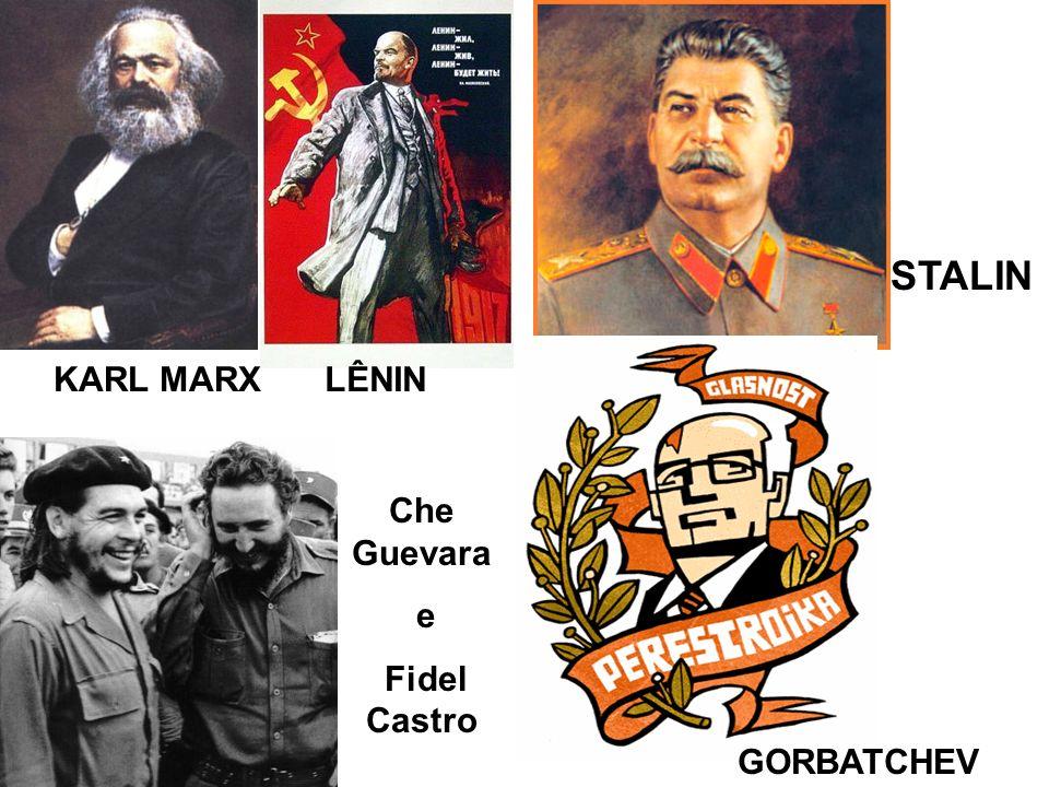 STALIN KARL MARX LÊNIN Che Guevara e Fidel Castro GORBATCHEV