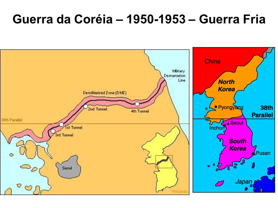 Guerra da Coréia – 1950-1953 – Guerra Fria