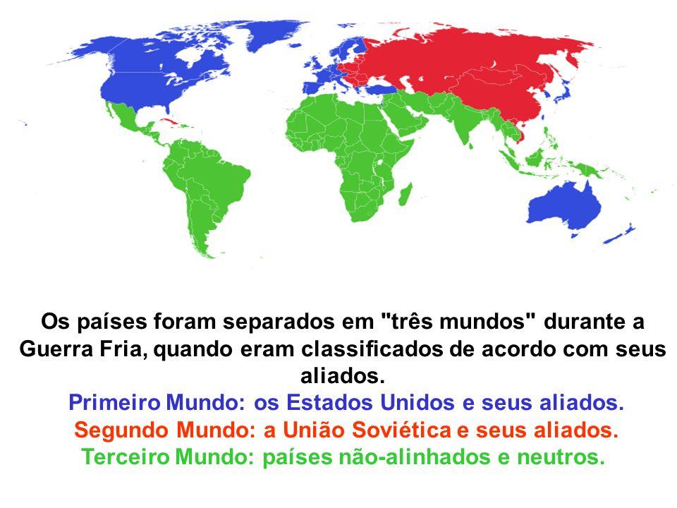 Os países foram separados em três mundos durante a