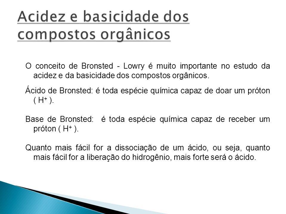 Acidez e basicidade dos compostos orgânicos