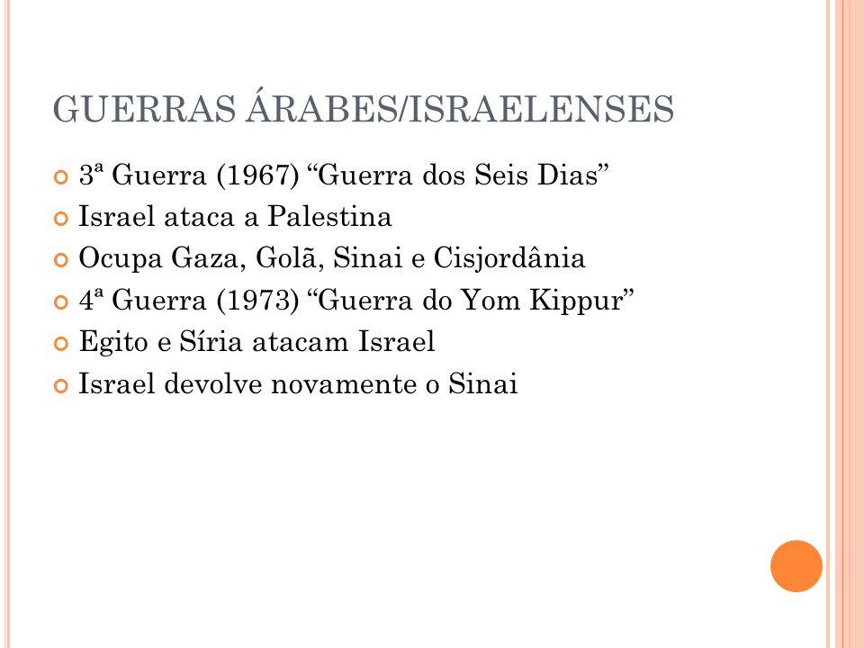 GUERRAS ÁRABES/ISRAELENSES