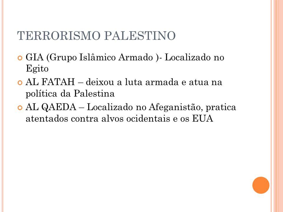 TERRORISMO PALESTINO GIA (Grupo Islâmico Armado )- Localizado no Egito