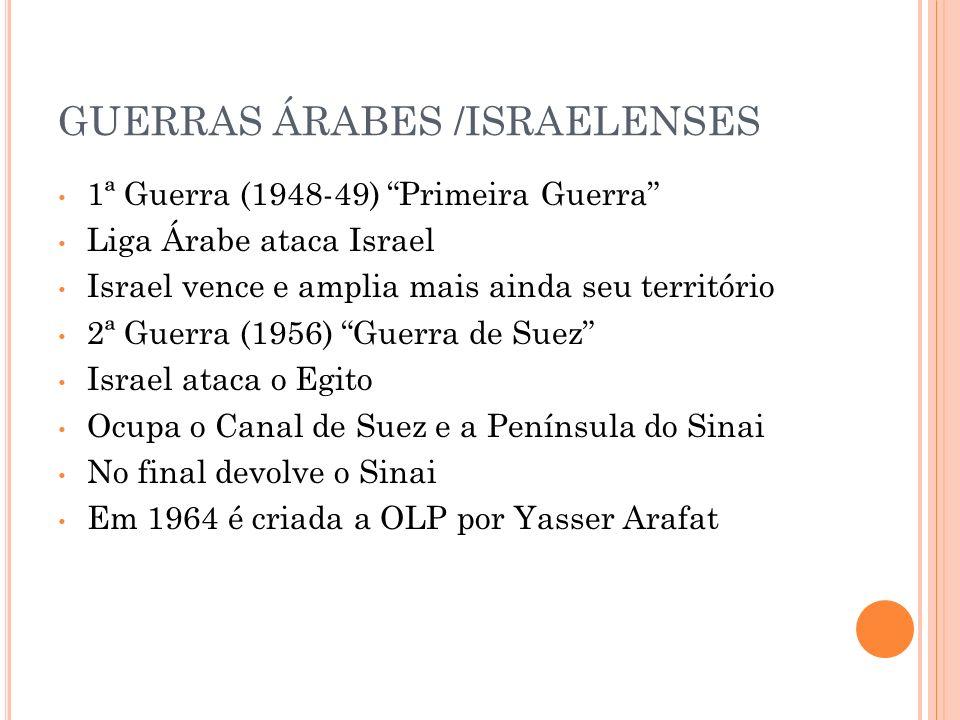 GUERRAS ÁRABES /ISRAELENSES