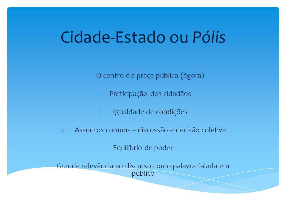 Cidade-Estado ou Pólis