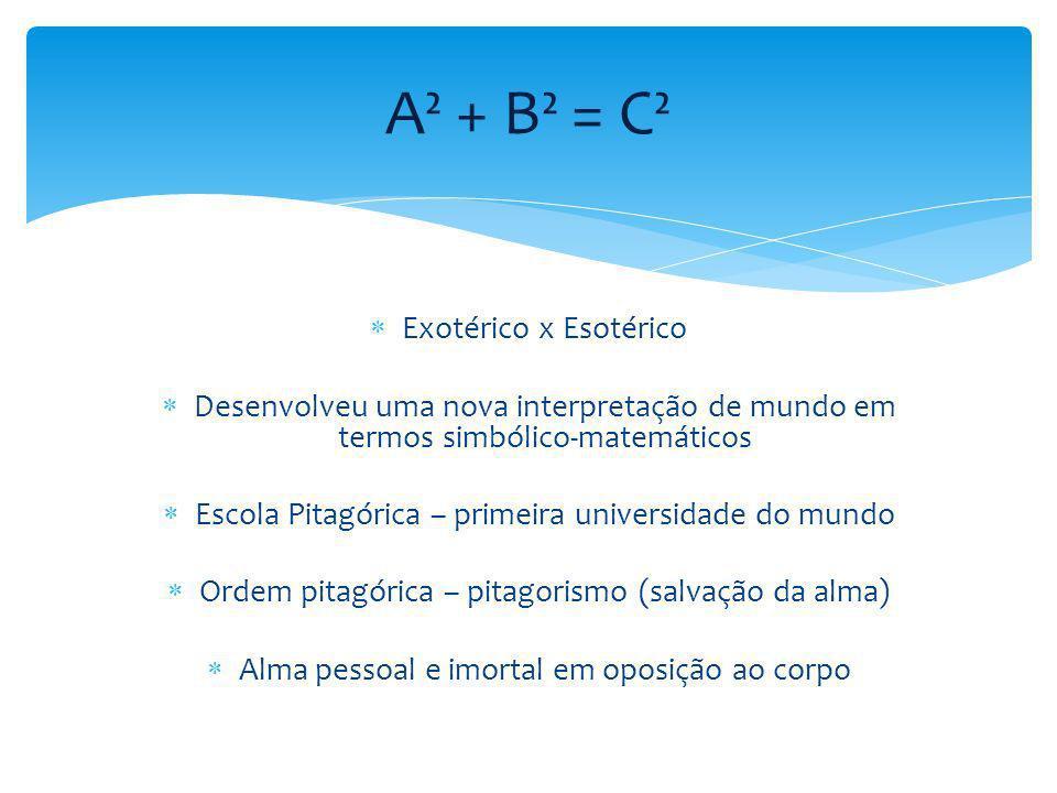 A² + B² = C² Exotérico x Esotérico