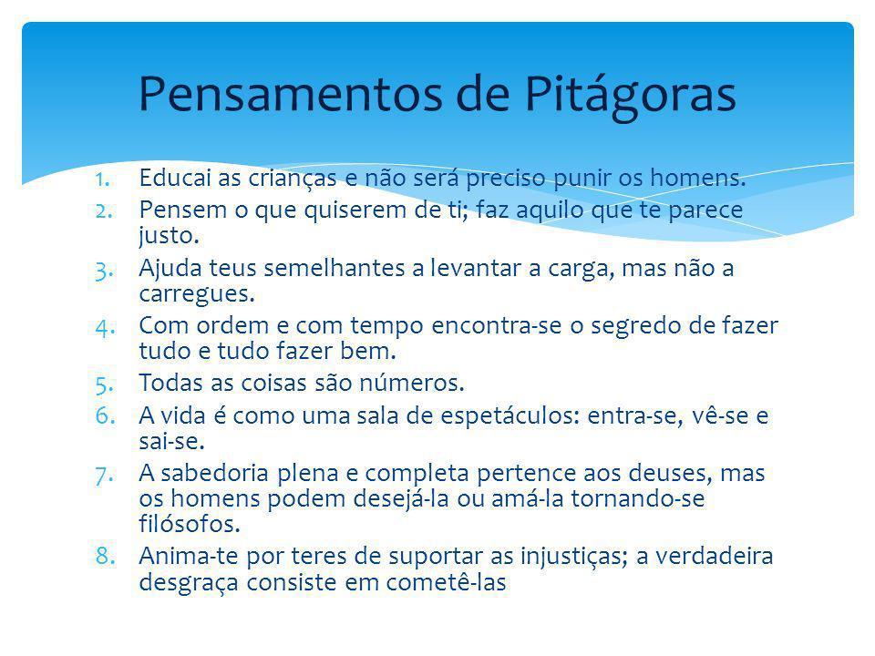 Pensamentos de Pitágoras