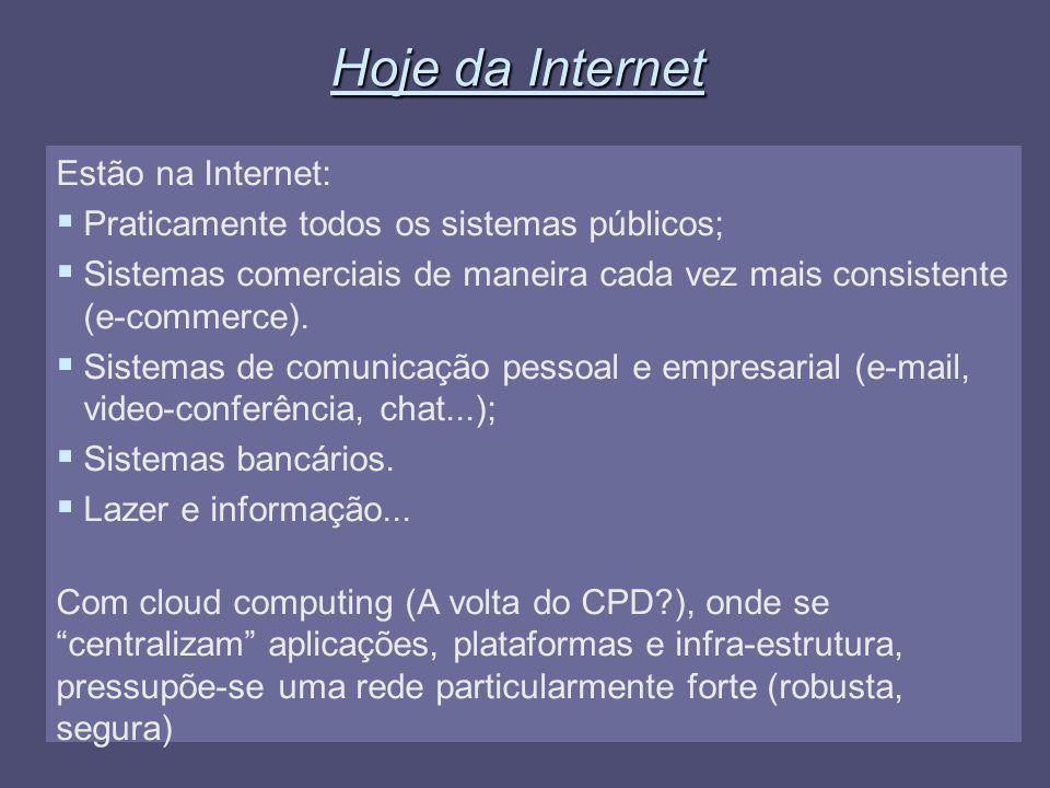 Hoje da Internet Estão na Internet: