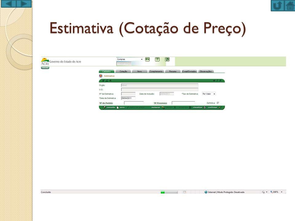 Estimativa (Cotação de Preço)