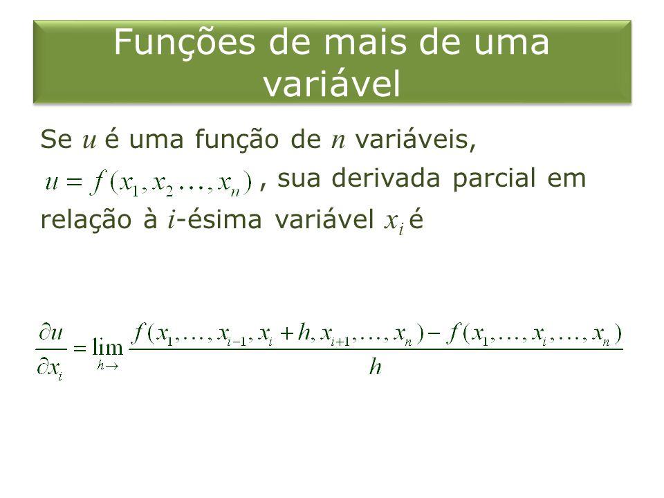 Funções de mais de uma variável