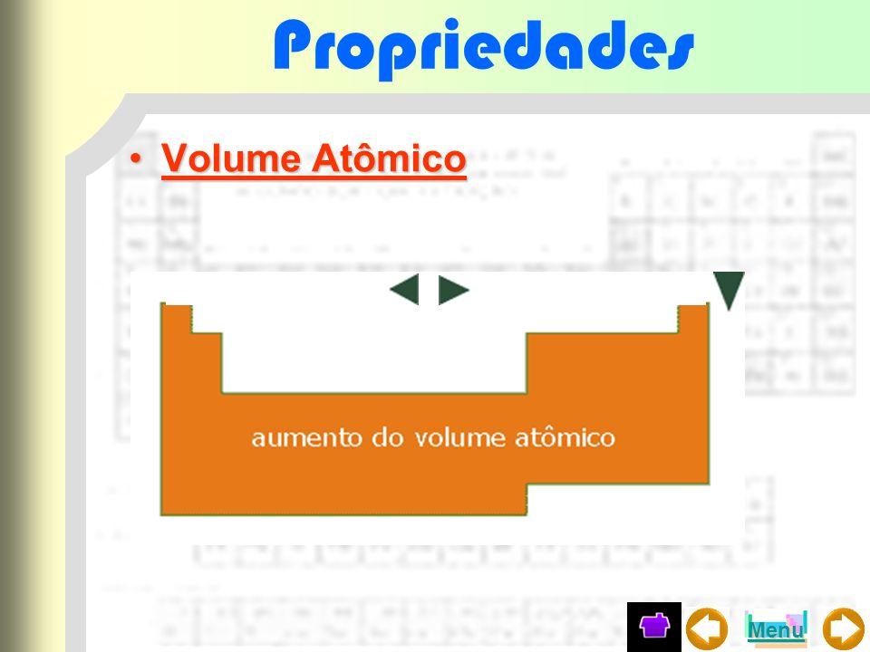 Propriedades Volume Atômico Menu