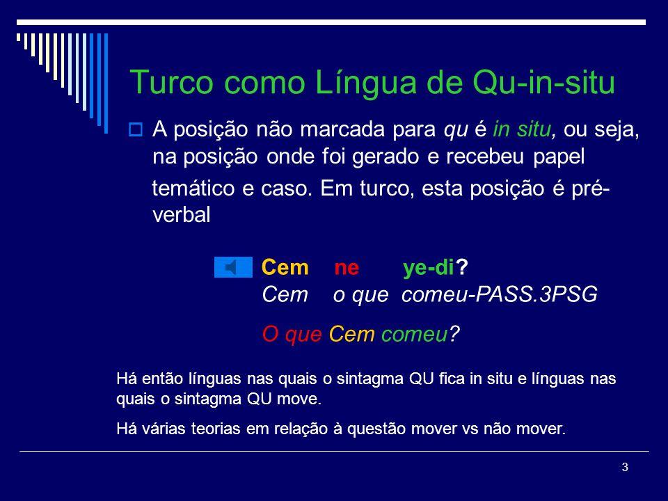 Turco como Língua de Qu-in-situ