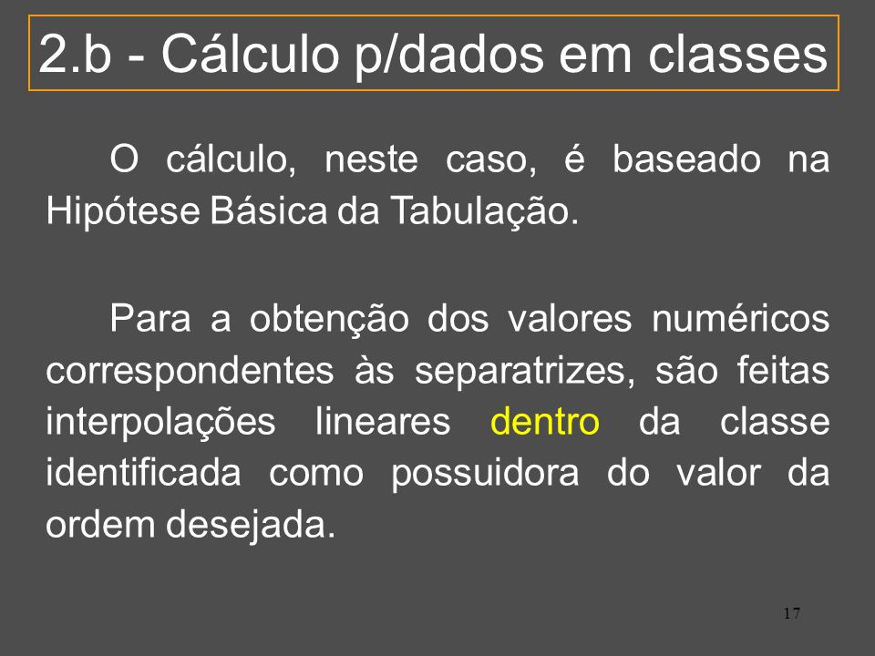 2.b - Cálculo p/dados em classes