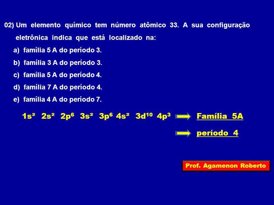 1s² 2s² 2p6 3s² 3p6 4s² 3d10 4p3 Família 5A período 4