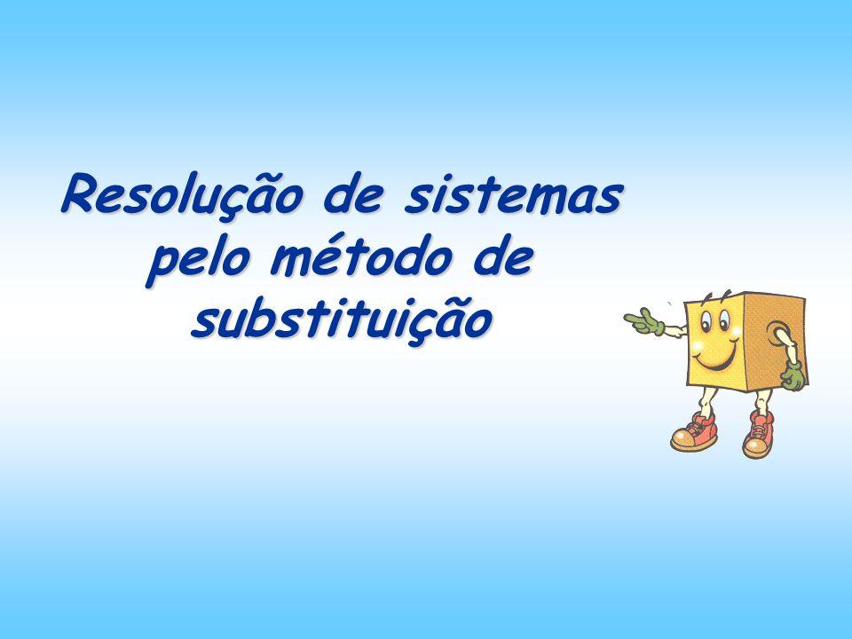 Resolução de sistemas pelo método de substituição