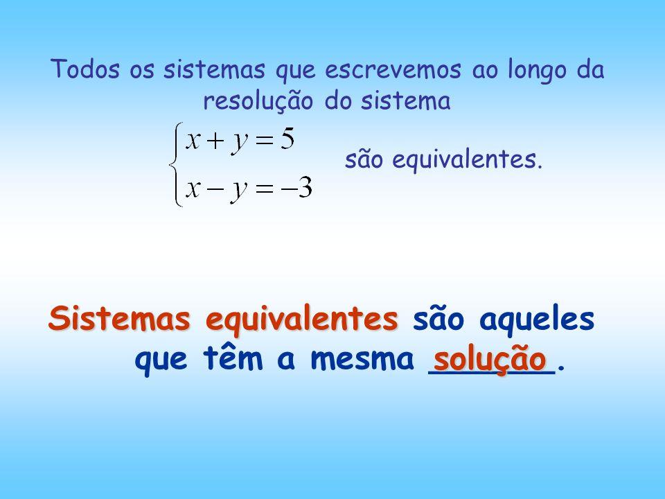 Sistemas equivalentes são aqueles que têm a mesma ______.