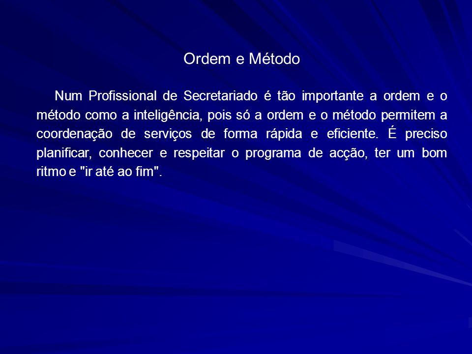 Ordem e Método