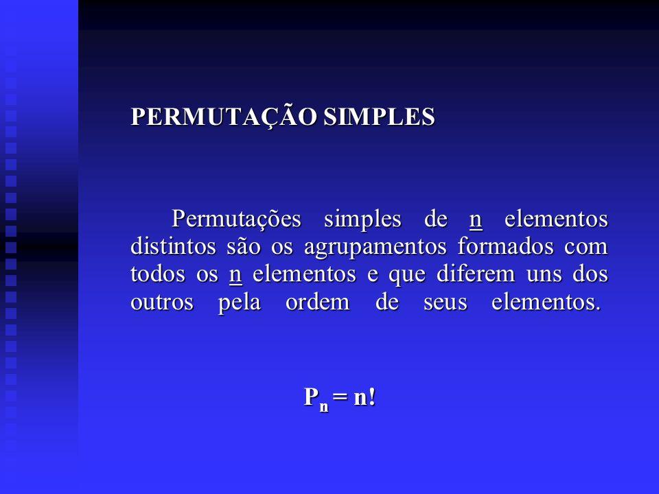 PERMUTAÇÃO SIMPLES
