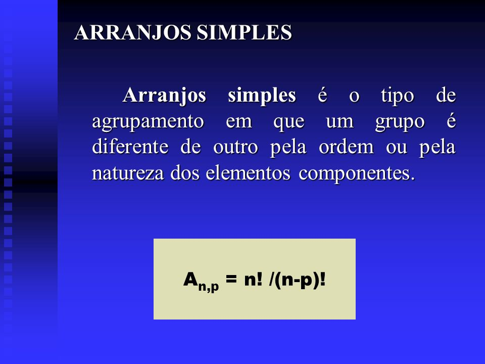 ARRANJOS SIMPLES