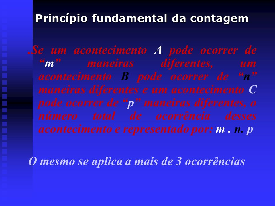 Princípio fundamental da contagem
