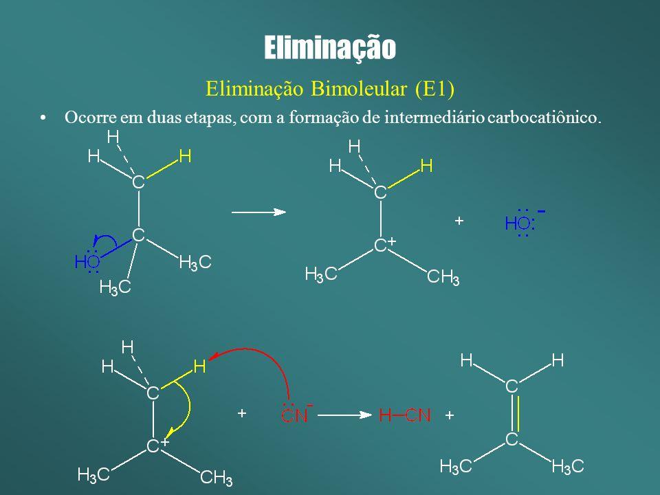 Eliminação Bimoleular (E1)