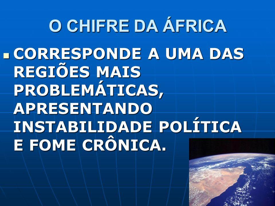 O CHIFRE DA ÁFRICA CORRESPONDE A UMA DAS REGIÕES MAIS PROBLEMÁTICAS, APRESENTANDO INSTABILIDADE POLÍTICA E FOME CRÔNICA.