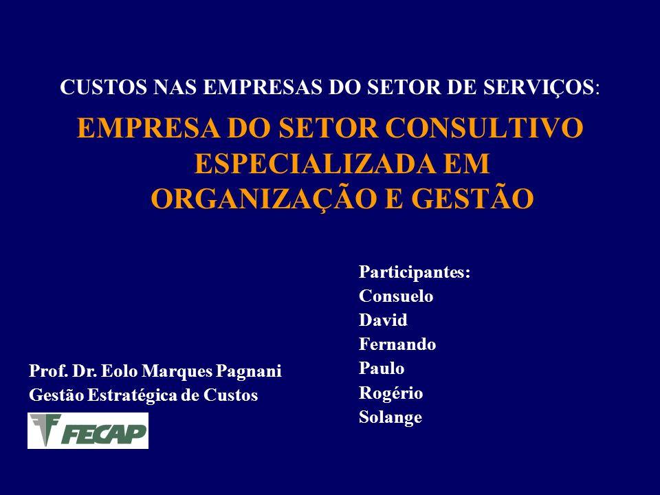 EMPRESA DO SETOR CONSULTIVO ESPECIALIZADA EM ORGANIZAÇÃO E GESTÃO