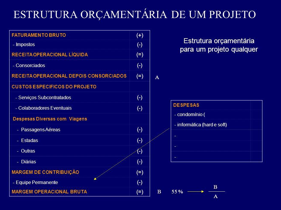 ESTRUTURA ORÇAMENTÁRIA DE UM PROJETO