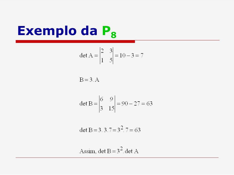 Exemplo da P8