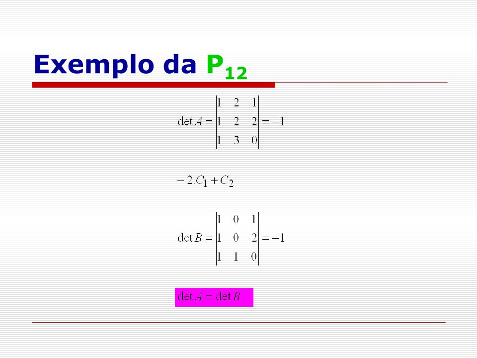 Exemplo da P12