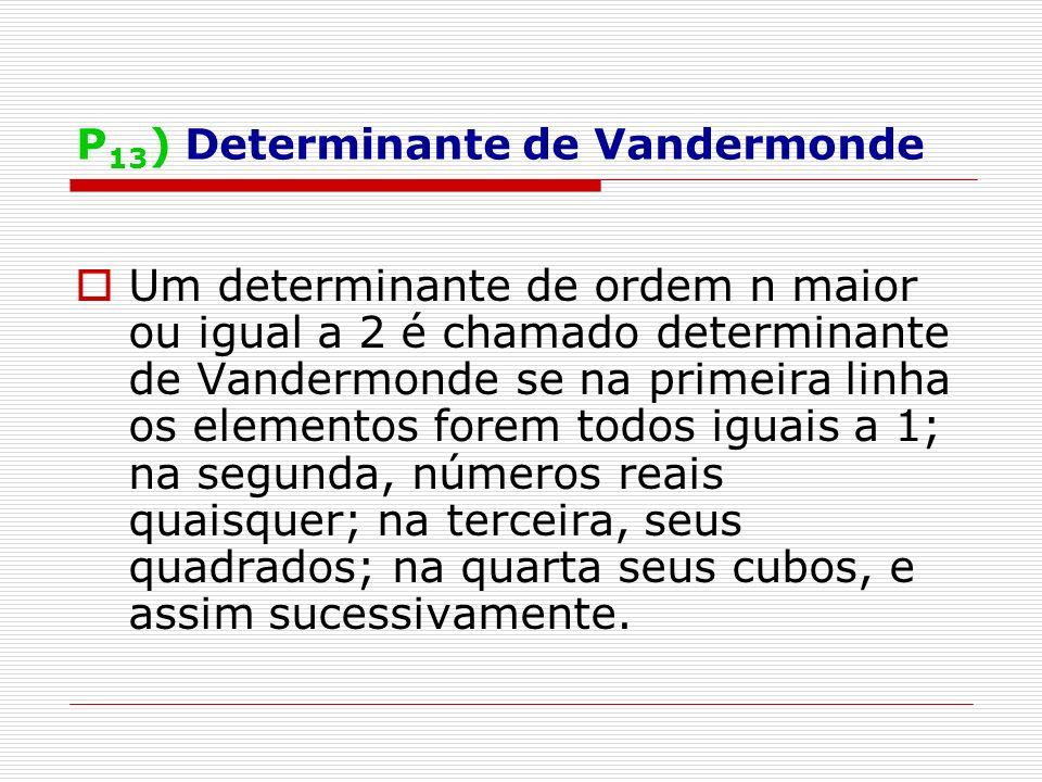 P13) Determinante de Vandermonde