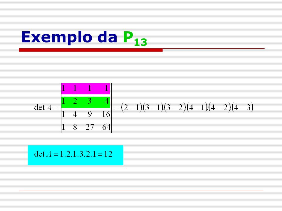 Exemplo da P13