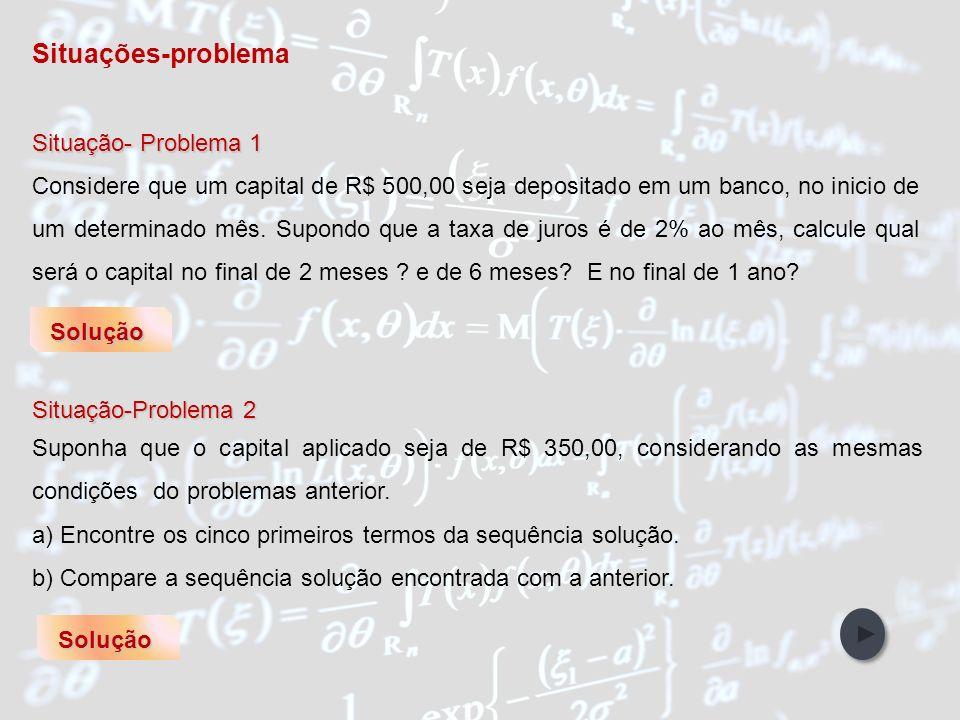 Situações-problema Situação- Problema 1